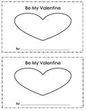 Be My Valentine Printable Book