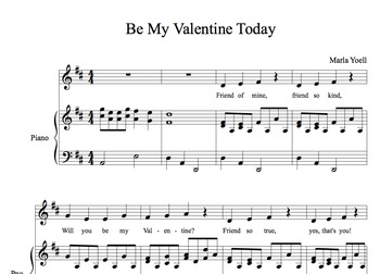 Be My Valentine Today/Elementary Music Classroom