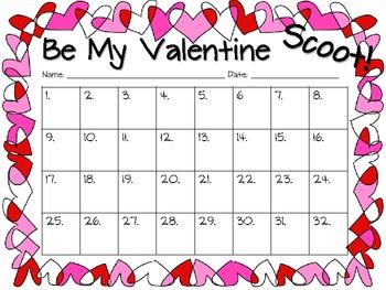 Be My Valentine (Valentine's Day) Common Core Math Scoot!