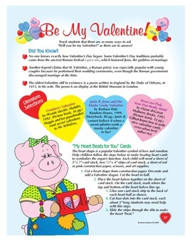 Be My Valentine Volume 1 Grades 1-3