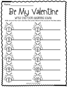 Be My Valentine Write the Room