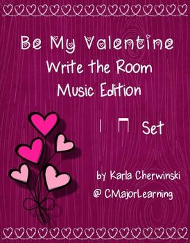 Be My Valentine Write the Room Music Edition ta ti-ti Set