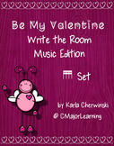 Be My Valentine Write the Room Music Edition tika tika Set