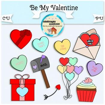 Be My Valentine - valentine - love - clipart