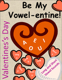 Valentine's Day Phonics Activity - Vowel Sounds short and long