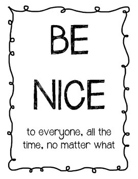 Be Nice Classroom Poster