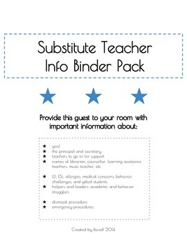 Be Organized for Your Substitute Teacher