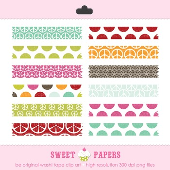 Be Original Polkadot Washi Tape Digital Clip Art Set - by Sweet Papers