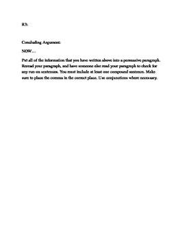 Be Persuasive! A persuasive writing worksheet.