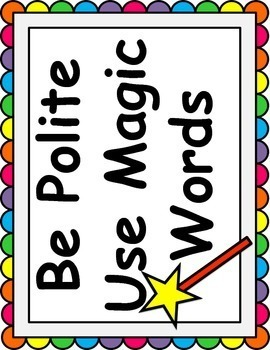 Social Skills Manners Be Polite Use Magic Words for Primary
