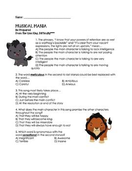 Be Prepared: Lion King Reading Test Prep: Sorting Cards, Worksheets, Smartboard