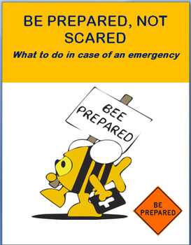 Be Prepared, Not Scared- lesson, 3 activities, coloring pages