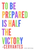 English Poster - Be Prepared