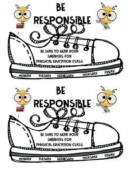 Be Responsible Sneaker Letter