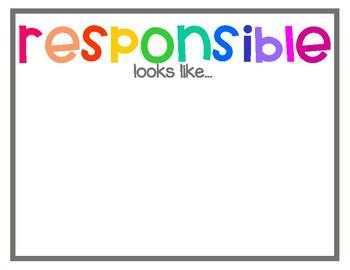 Be Safe, Be Respectful, Be Responsible with Looks Like Sounds Like Posters Multi