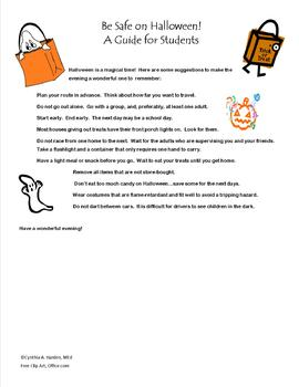 Be Safe on Halloween! A Guide for Students