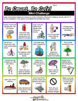 Be Smart, Be Safe Health Challenge