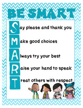 Be Smart - Classroom Rules Poster
