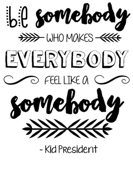Be Somebody Poster Poster