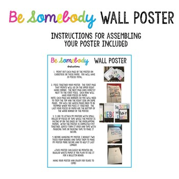 Be Somebody Wall Poster