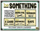 Be Something!  Positive Thinking Posters for Student Growt