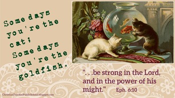 Be Strong in the Lord eCard Encouragement for Christian Teachers