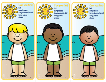 Sun Safety ~ Paper Doll Game