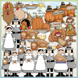 Be Thankful Clip Art - Thanksgiving Clip Art - Pilgrims -