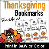 Be Thankful : Thanksgiving Bookmarks - Color & Black and White
