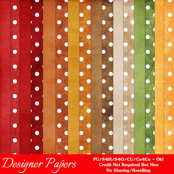 Be Thankful Thanksgiving Colors Digital Papers Package 1