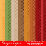 Be Thankful Thanksgiving Colors Digital Papers Package 2