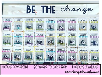 Be The Change Classroom Display!