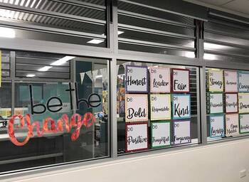 Be The Change Classroom Display