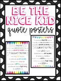 Be The Nice Kid!