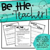 """Be The Teacher"" Math Project - (5th Grade Math Standards)"