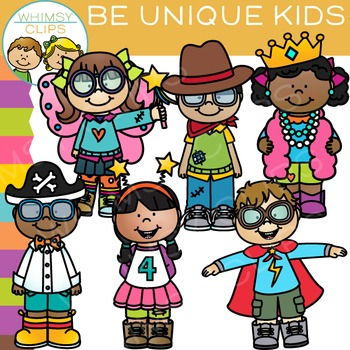 Be Unique Kids Clip Art