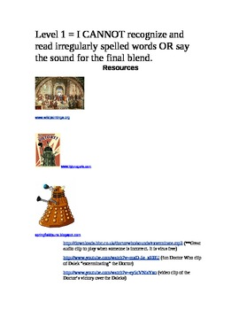 Language Arts Learning Games ~ Spelling and Phonics with the Daleks
