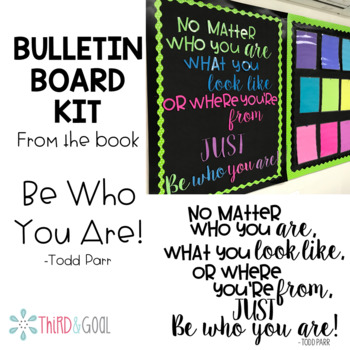 Be Who You Are Quote Bulletin Board Kit
