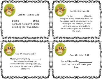Be Wise - Study God's Word - Bible Task Cards