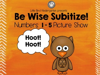 Be Wise Subitize! Numbers 1-5 Picture Show