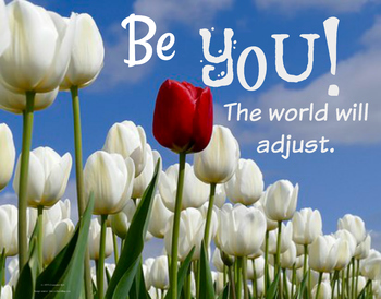 Be YOU 11 x 14 JPG Poster Self-Esteem PBIS Character Ed
