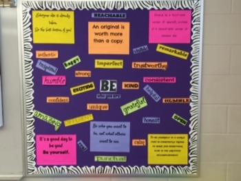 """""""Be You"""" Positive Self-Esteem Bulletin Board"""