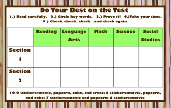 Be Your Best on the Test: Test Taking Skills Card