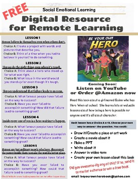 Be Your Own Hero Free Distance Learning SEL Digital Resource