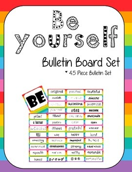 Be Yourself Bulletin Board Set