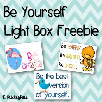 Be Yourself Light Box Freebie