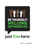 Be Yourself! | Welcome Differences - Decal