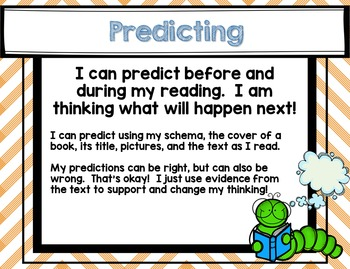 Be a Bookworm Comprehension Posters