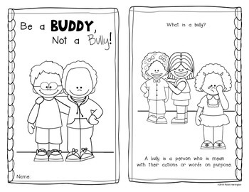Be a Buddy, Not a Bully! {Emergent Reader} for Kindergarten and First Grade