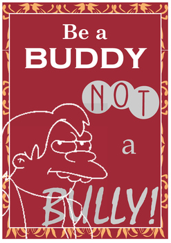 Be a Buddy Poster - Simpsons Themed